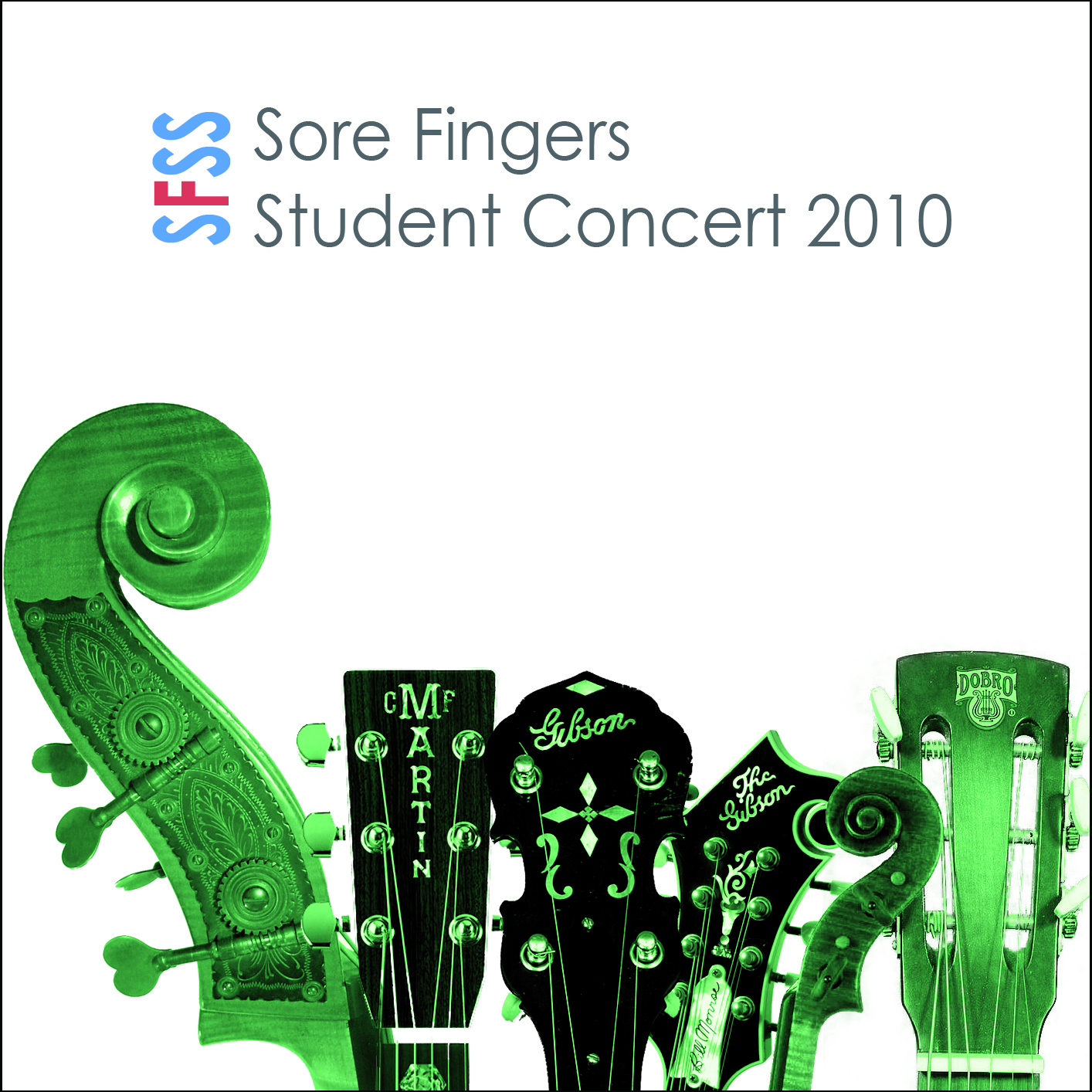 Artist:  Sore Fingers Summer School   Title:  Student Concert 2010   Credit:  Recording, Mixing, Mastering   Year:  2010