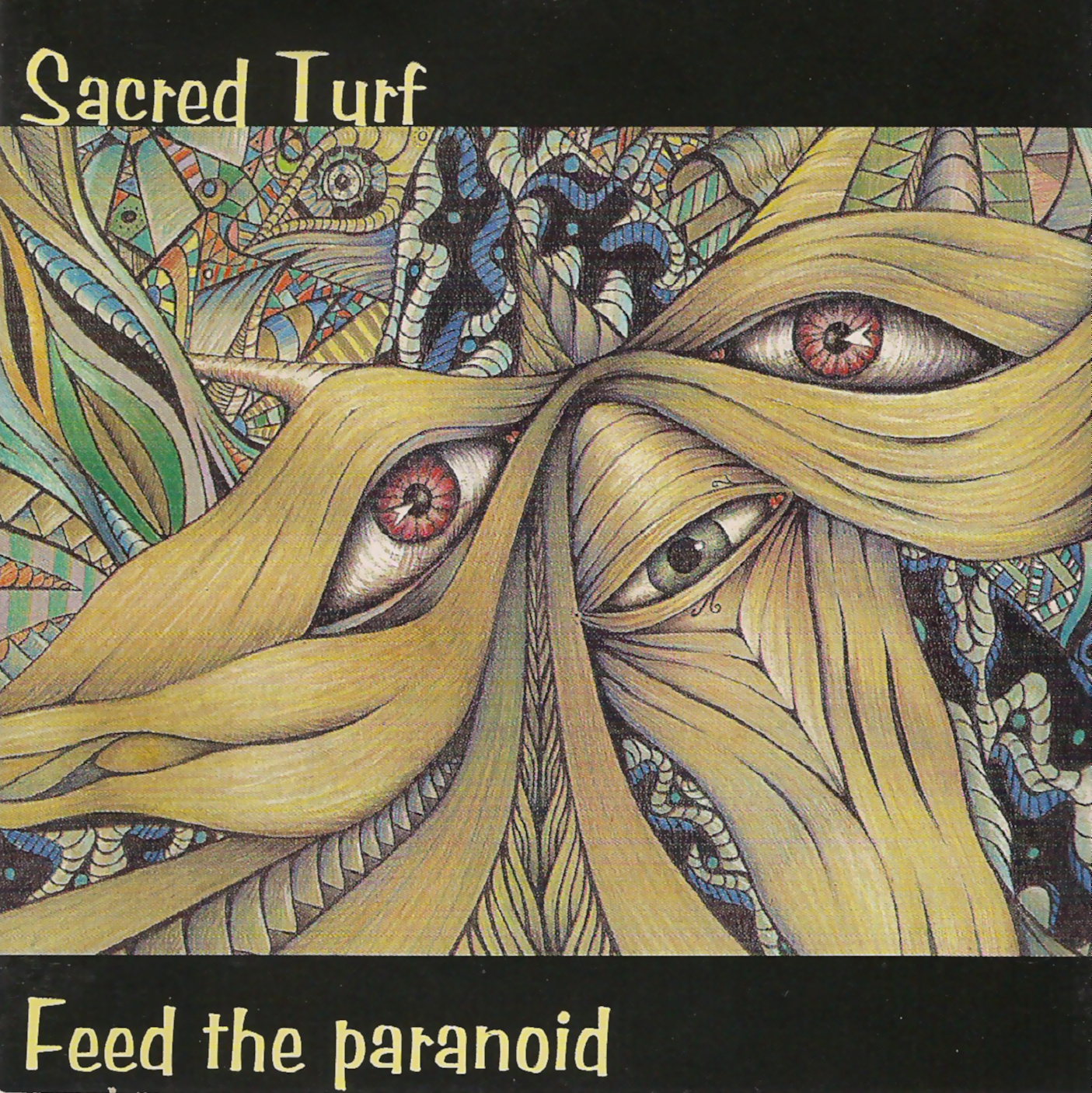 Artist:  Sacred Turf   Title:  Feed the Paranoid   Label:  Great West Records   Credit:  Performer (Drums)   Year:  1998
