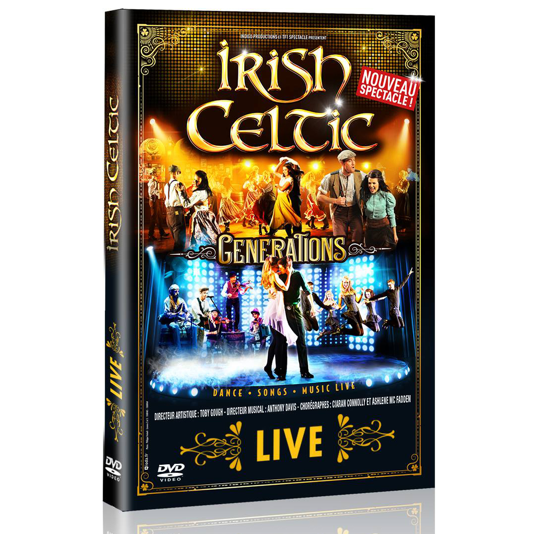 Artist:  Irish Celtic   Title:  Generations Live (DVD)   Label:  Indigo Productions   Credit:  Mastering   Year:  2016