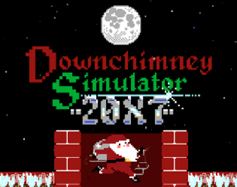 """Downchimney Simulator 20X7 is a 2D holiday game jam game based on the downward scrolling platformer """"Downwell"""". You can play it for free on itch.io.  (sound design/music)"""