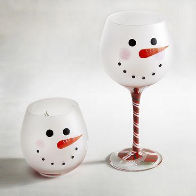 Dec 14 Frosty Wine Glass Painting Let S Paint