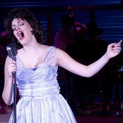 Cayman as Patsy Cline in Always.. Patsy Cline at Centerstage. Photo by Michelle Smith Lewis.