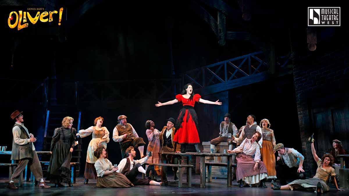 Oliver!  at Musical Theatre West. Photo by Cameron Lanier