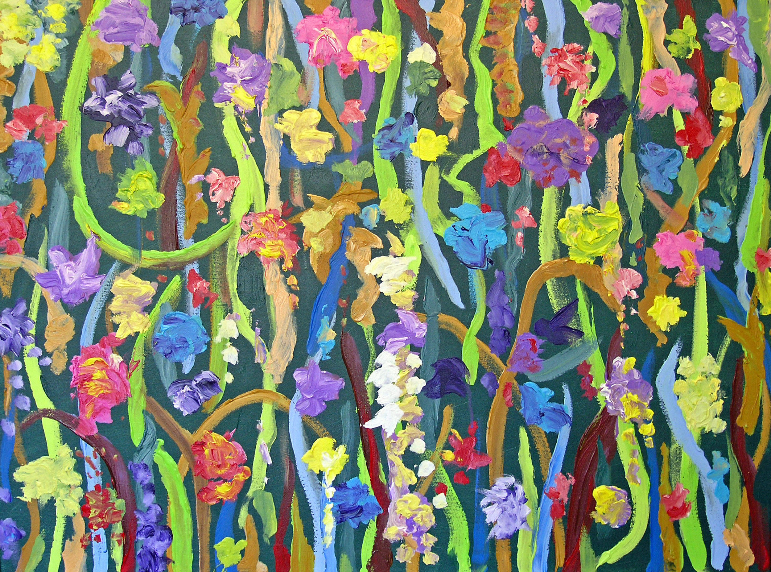"7 Times to Flourish Number 5 - 2014 30h"" x 40""w acrylic on canvas"