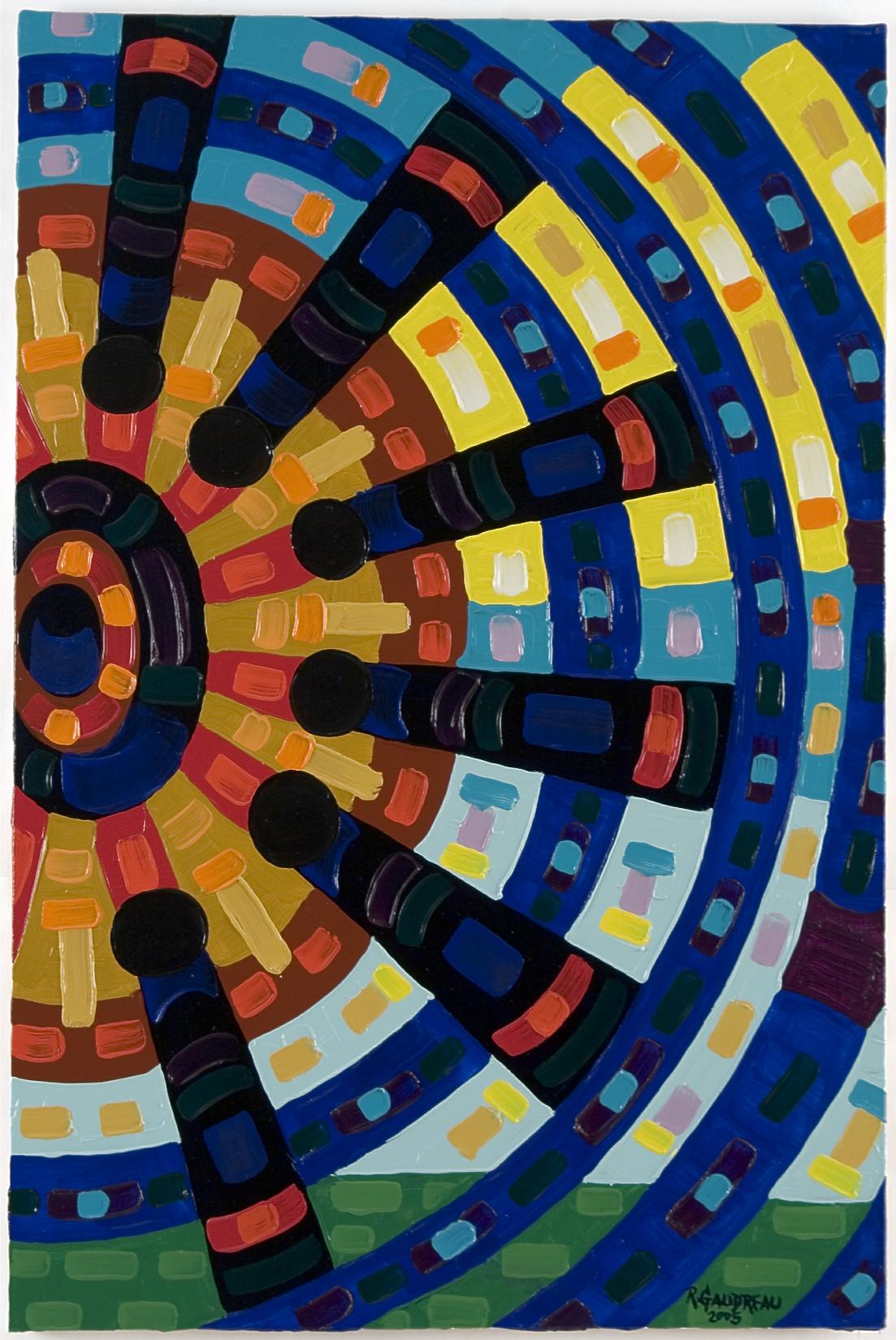 Fan  2005 oil on linen 36 x 24 inches
