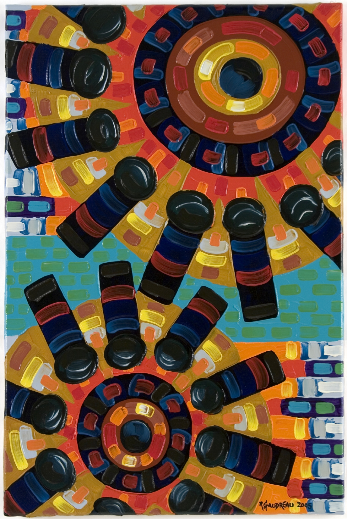 Gears2005 oil on linen 36 x 24 inches