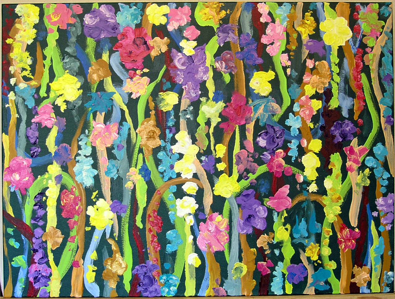 "7 Times to Flourish Number 6 - 2014 30""h x 40""w acrylic on canvas"