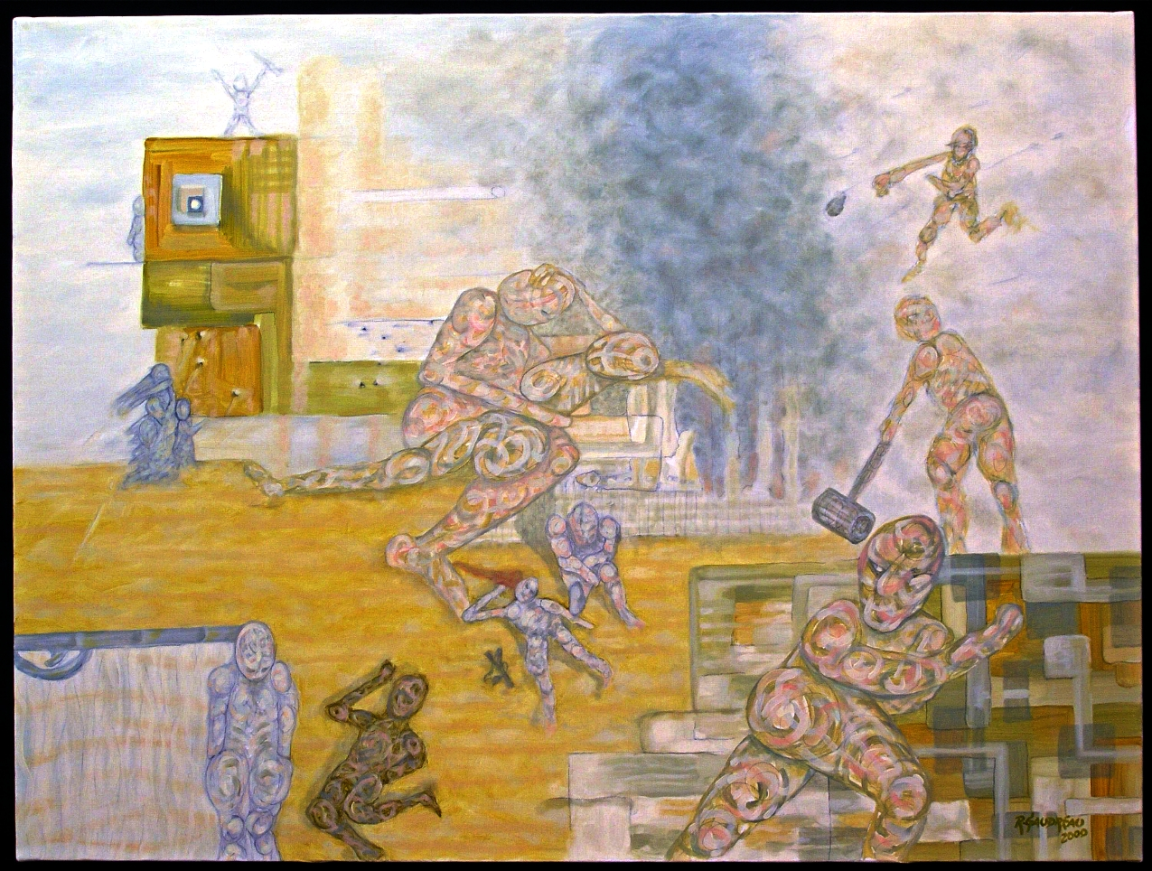 West Bank 2000 oil on canvas 30 x 40 inches
