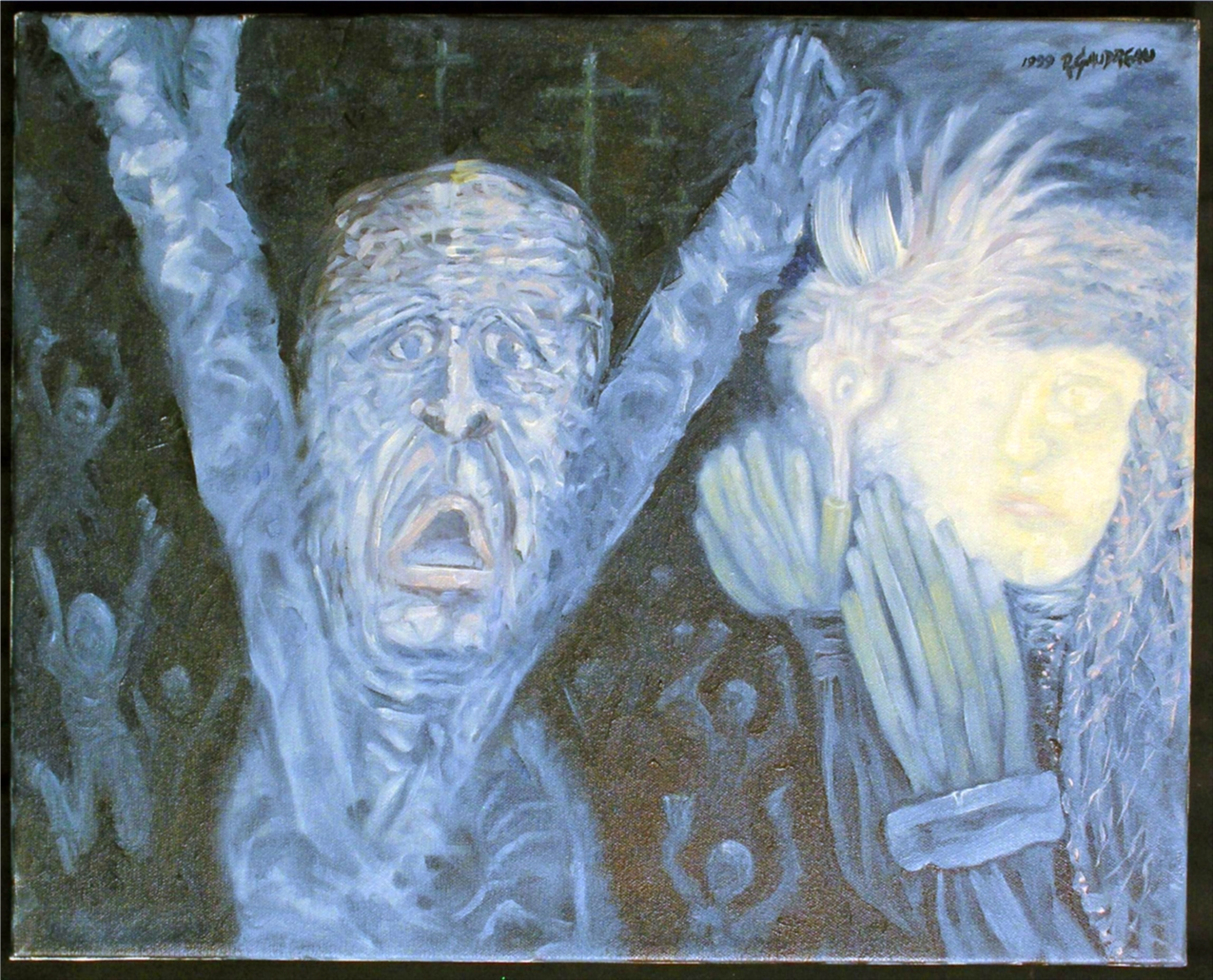 Fear of the Dark 1999 oil on canvas 16 x 20 inches
