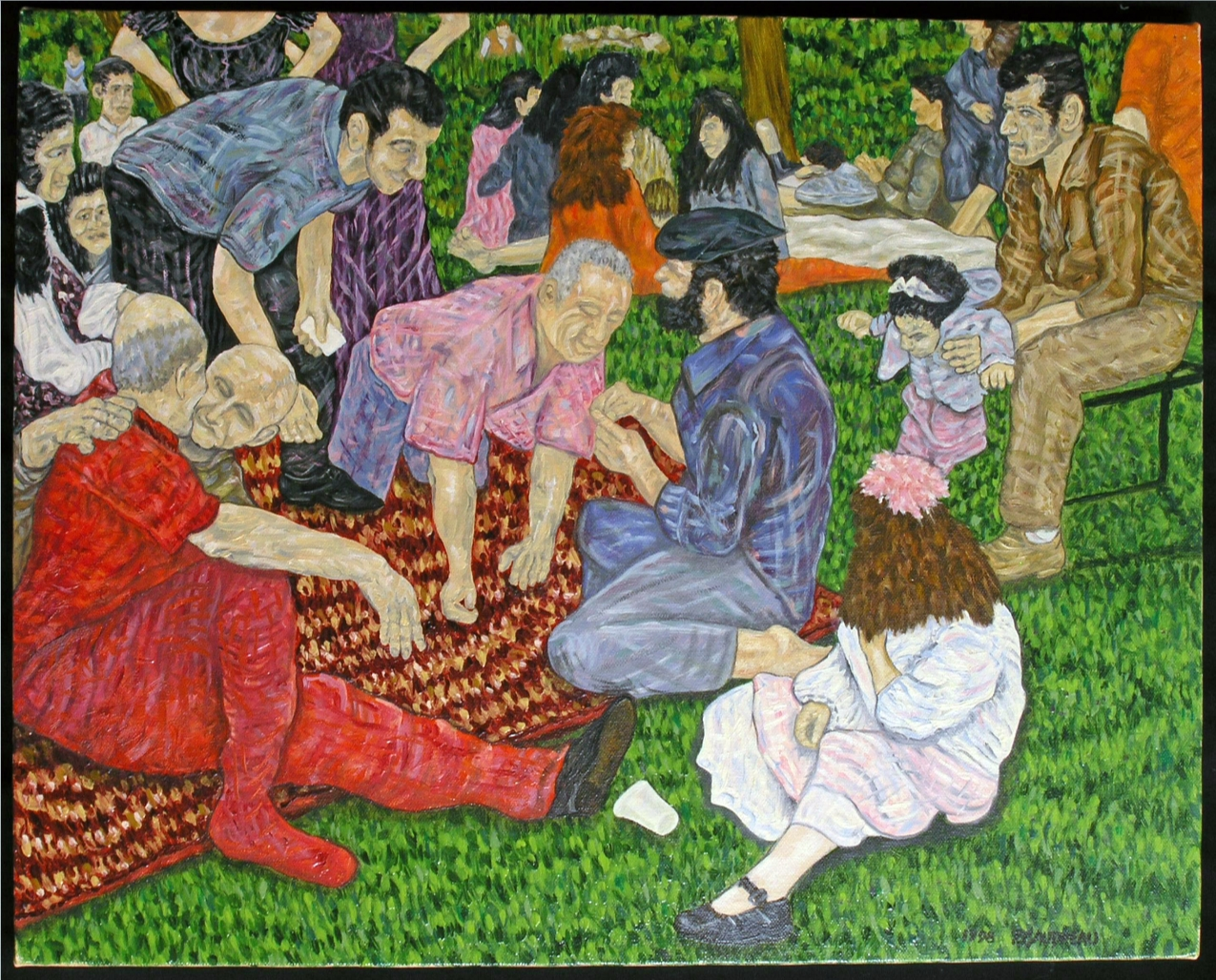 Holiday in the Park 1998 oil on canvas 16 x 20 inches