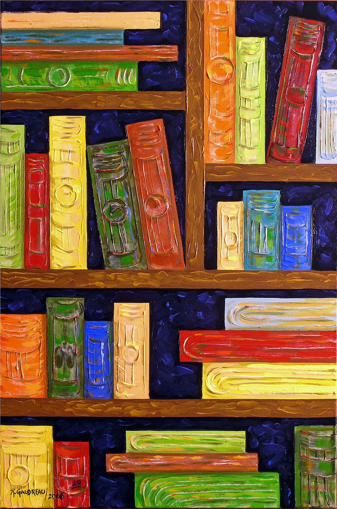 29 Books   2006 oil on canvas 36 x 24 inches
