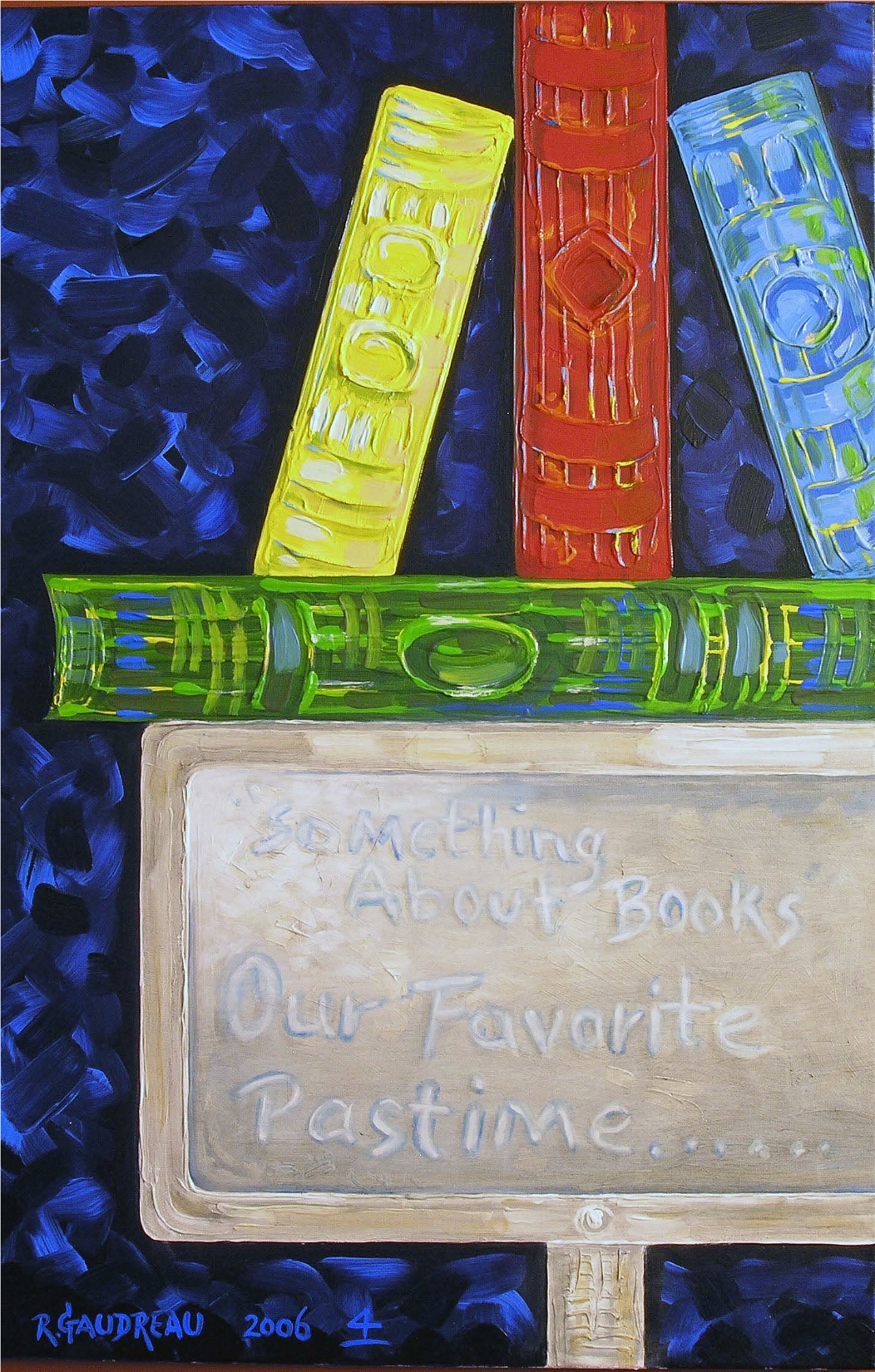 4 Books 2006 oil on canvas 36 x 24 inches