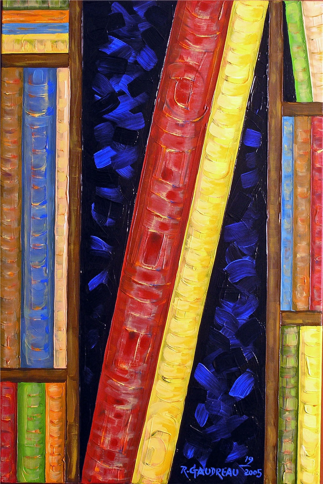 19Books 2006 oil on canvas 36 x 24 inches