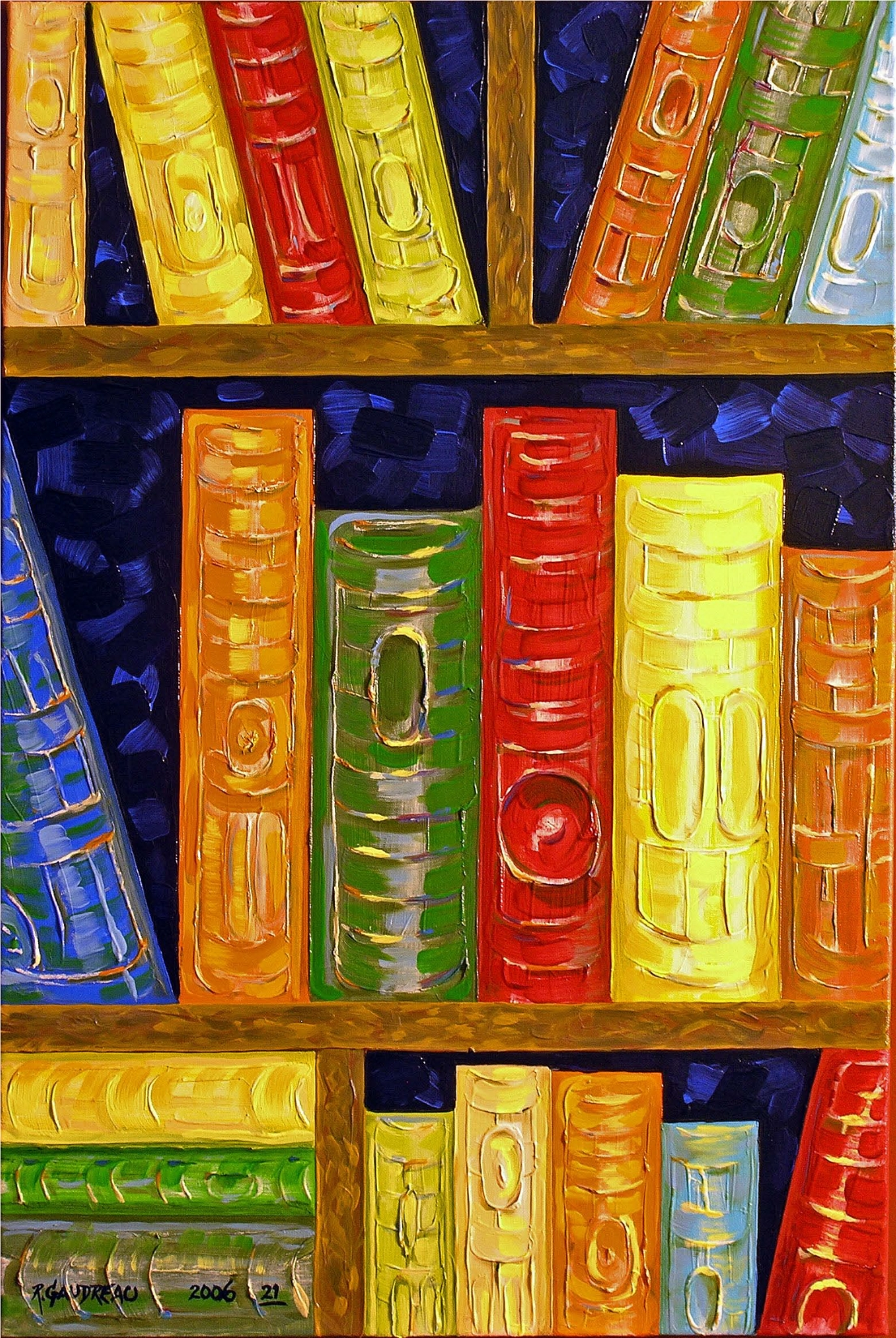 21Books 2006 oil on canvas 36 x 24 inches