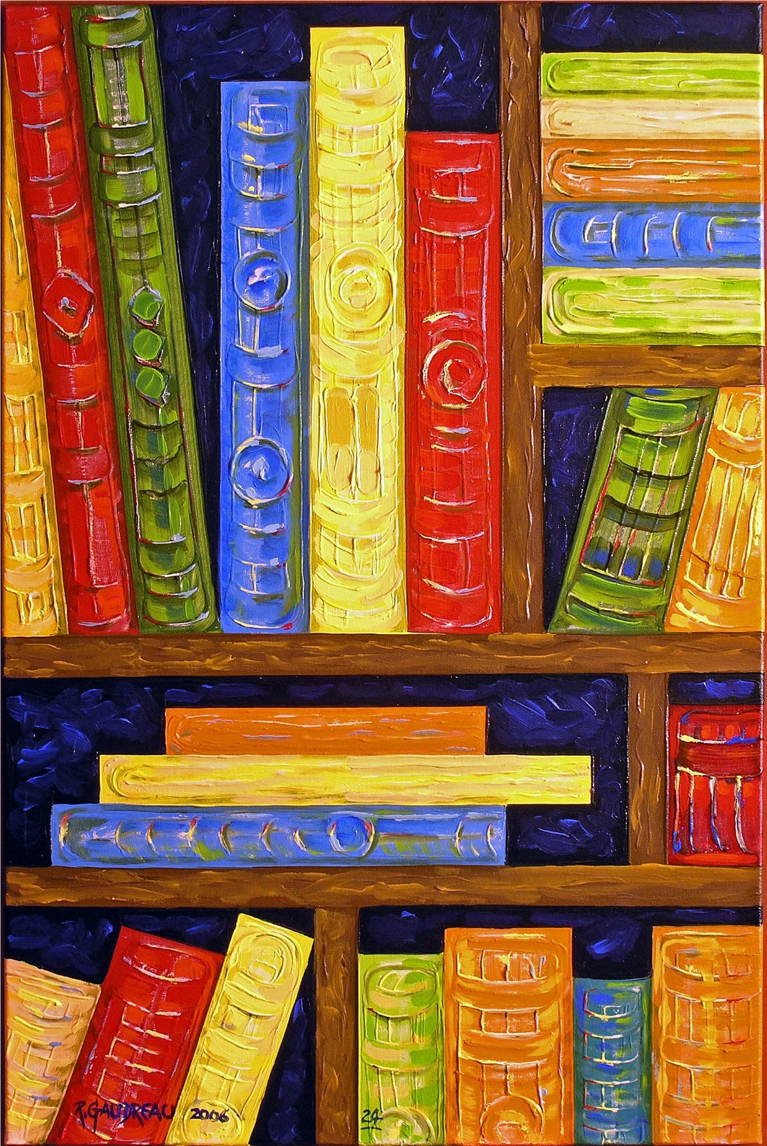 24  Books 2006 oil on canvas 36 x 24 inches