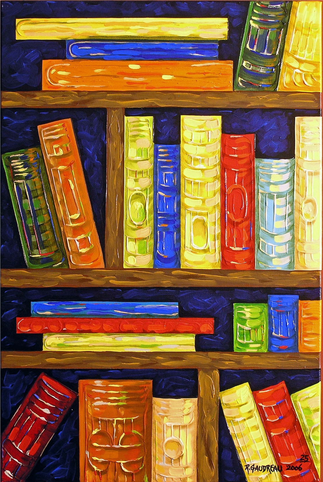 25  Books 2006 oil on canvas 36 x 24 inches
