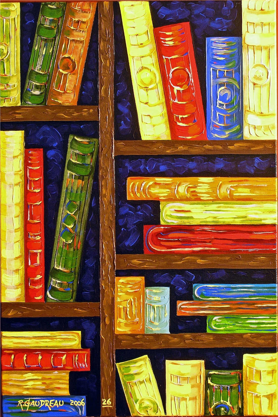 26  Books 2006 oil on canvas 36 x 24 inches