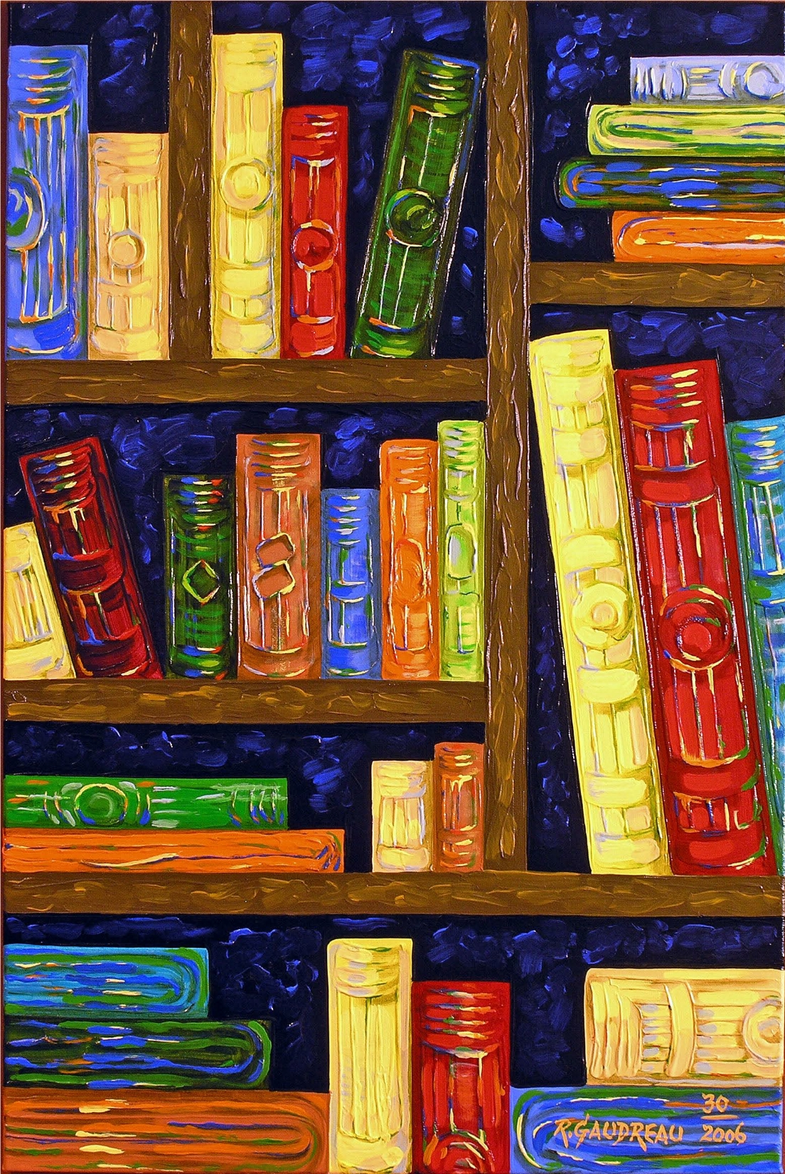 30  Books 2006 oil on canvas 36 x 24 inches