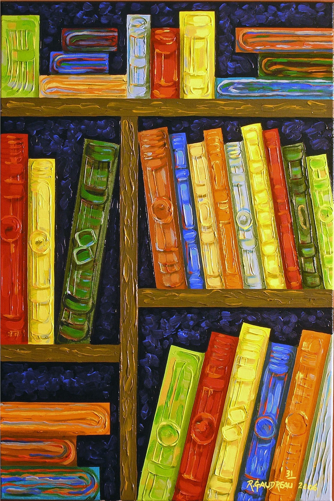 31  Books 2006 oil on canvas 36 x 24 inches