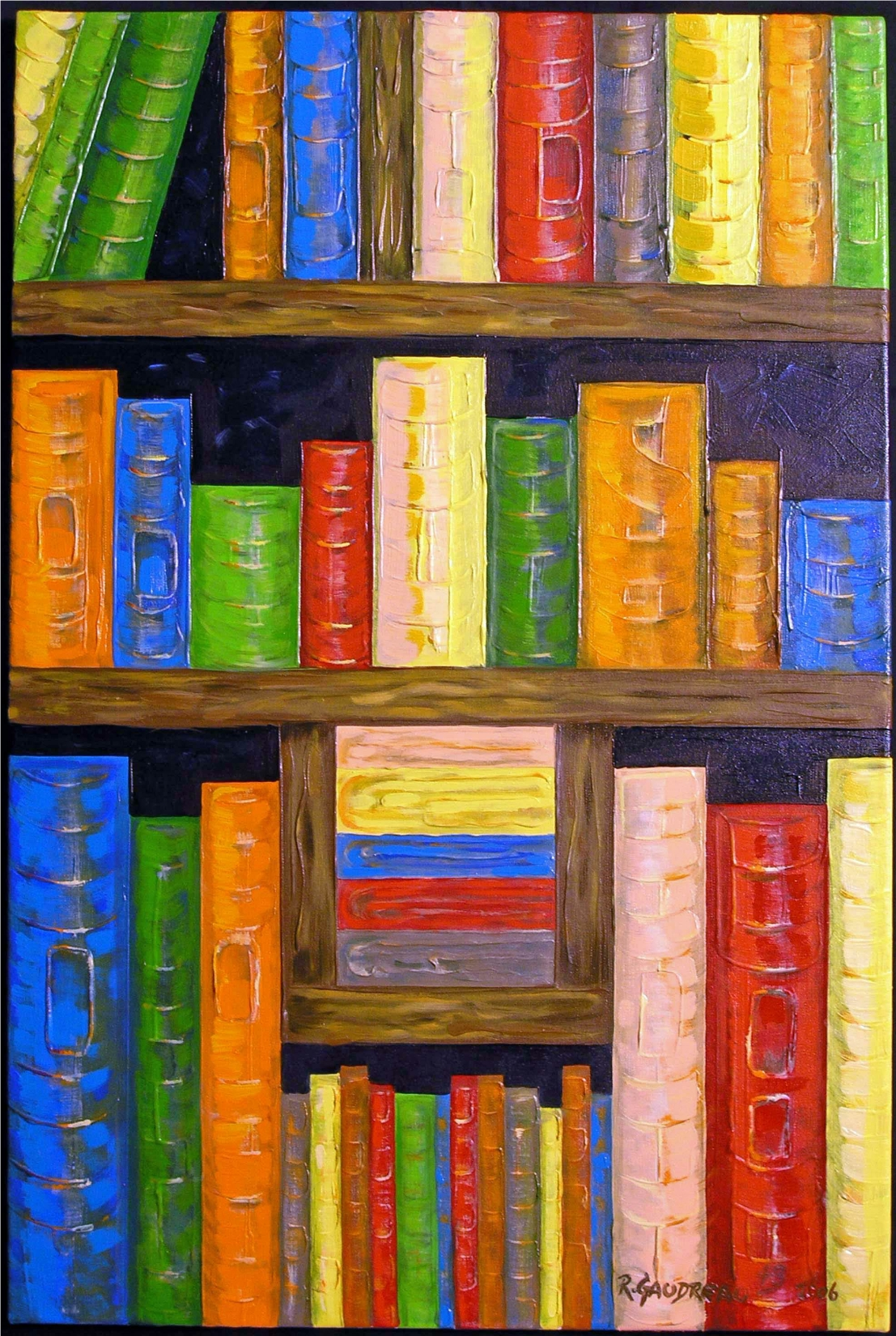 43  Books 2006 oil on canvas 36 x 24 inches