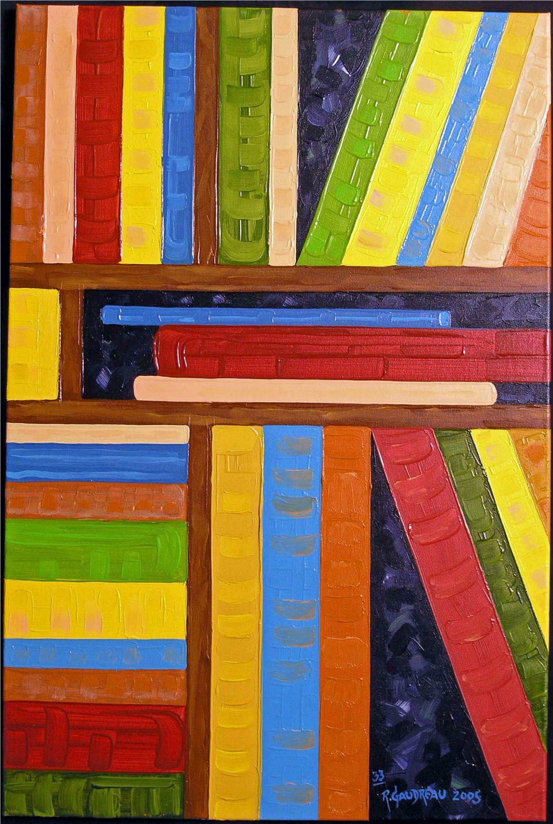 33  Books 2005      (SOLD) oil on canvas 36 x 24 inches