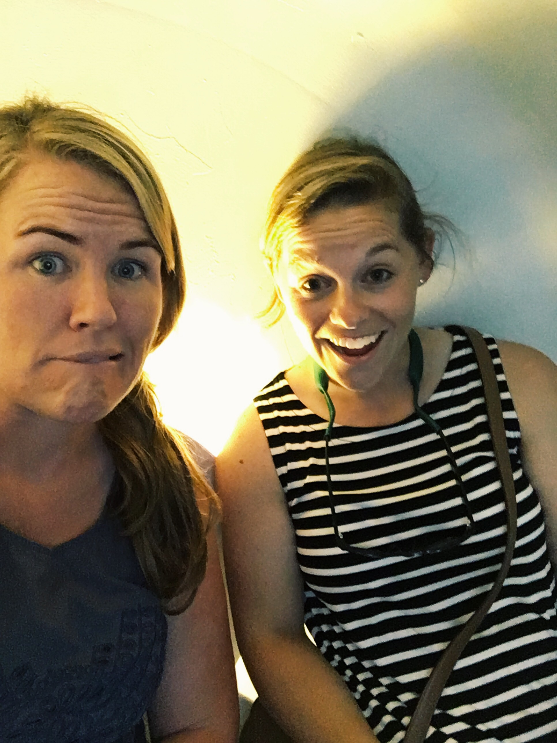 Pod life. Not one for selfies, but it seemed appropriate to snap one in our elevator pod.