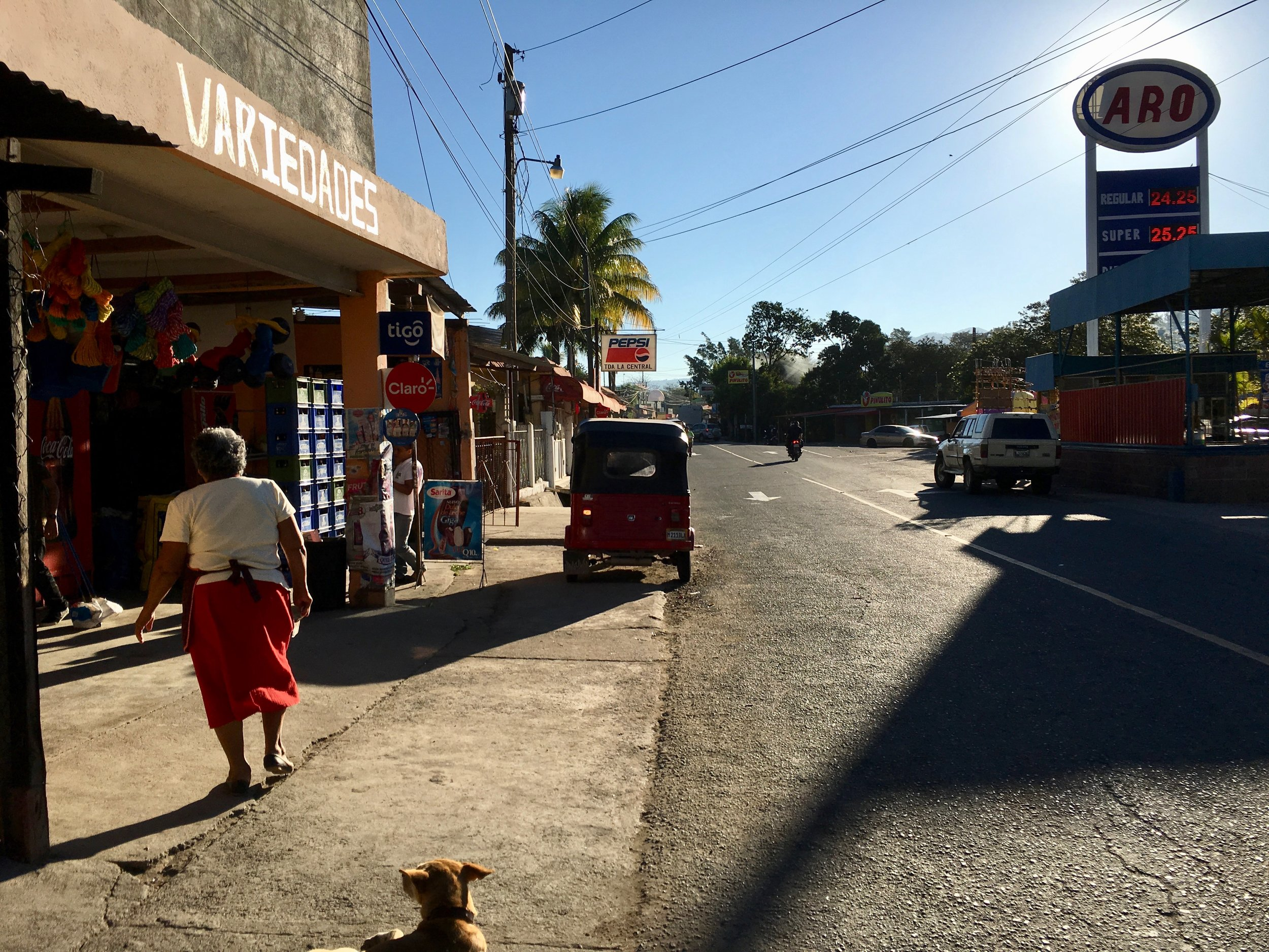 Near the center of Aldea Amberes in Santa Rosa, a small town at the convergence of three roads in southeast Guatemala
