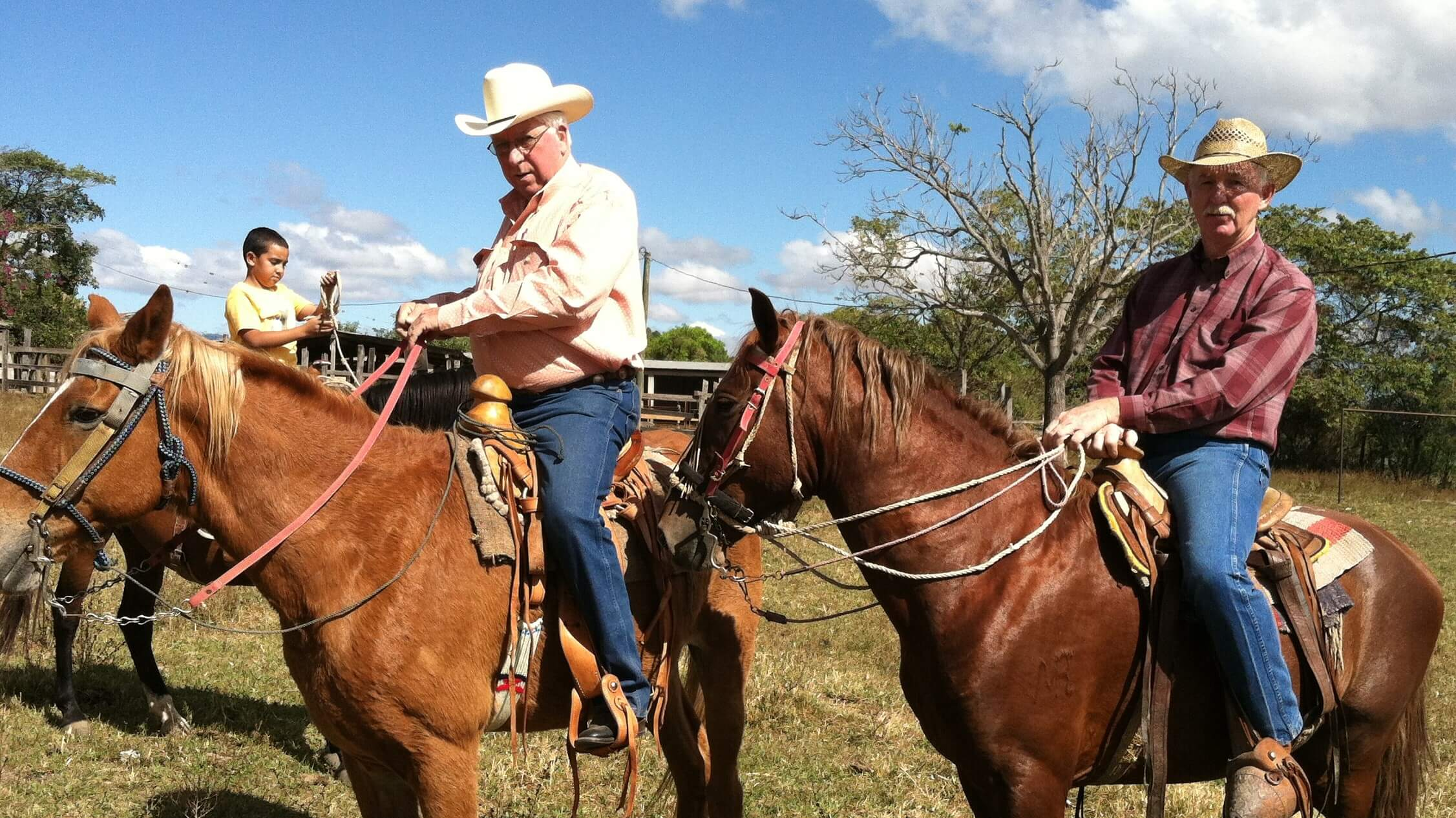 Tom Huffman and Dave Gideon, of Burwell, Nebraska on a cowboy mission trip to Guatemala in January of 2014.