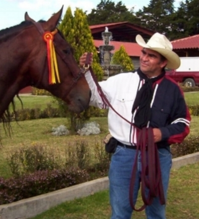 Cesar Gonzalez in our first years of working with cowboys in Guatemala.