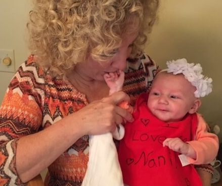 A few hours later, Nola got to spoil Bridget, our granddaughter.