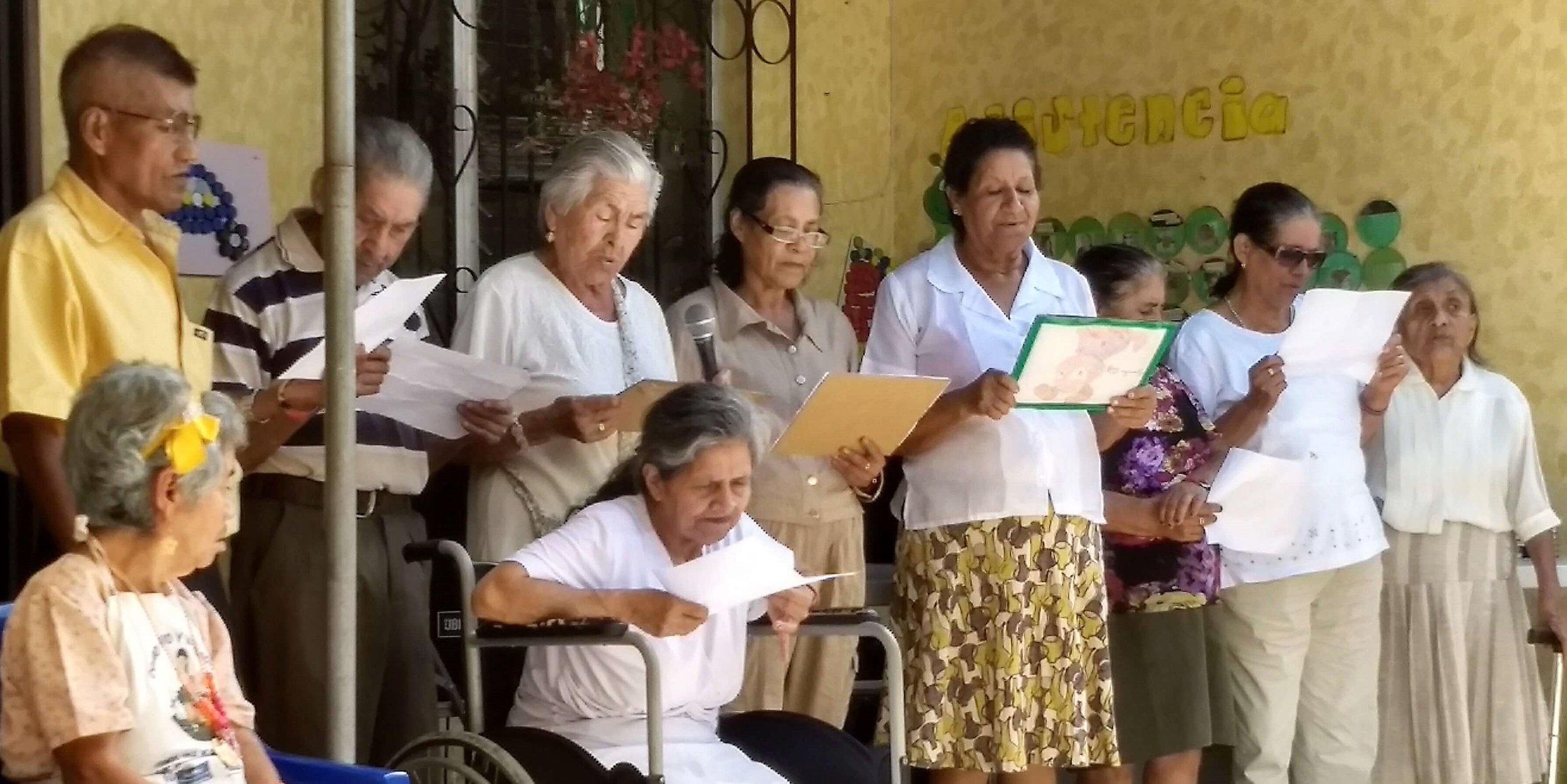 Santa Cruz Narranjo, Guatemala. Senior Citizens