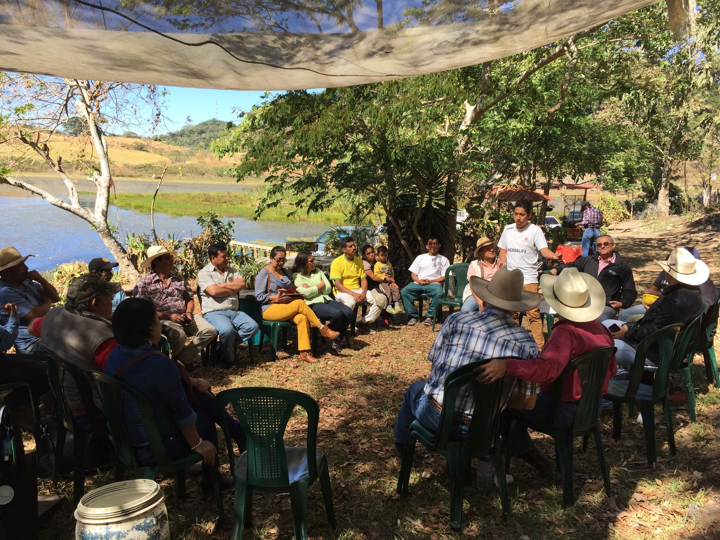 First meeting of a new Christian Rancher group in Moyuta