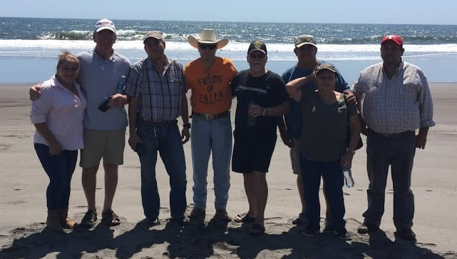 The team starting a Christian Rancher group near El Salvador and the Pacific Ocean at Las Lisas, Guatemala