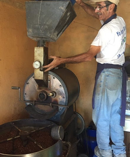 Our friend Dario roasts another batch of coffee for us. Let us know you would like some, and we'll send it to you!