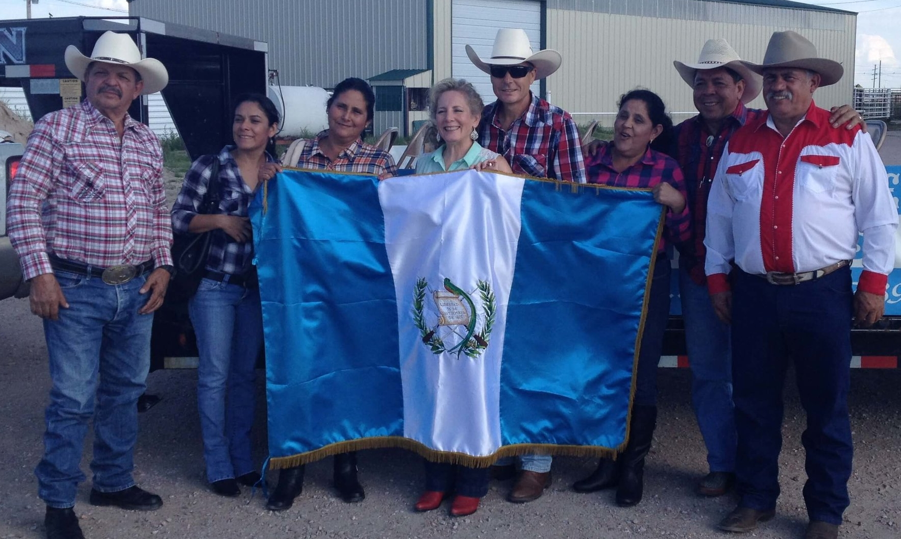 Here is a group picture of the Guatemala delegation that came to Valentine, Nebraska, for their rodeo in August of 2015. Marcos is on the far left.