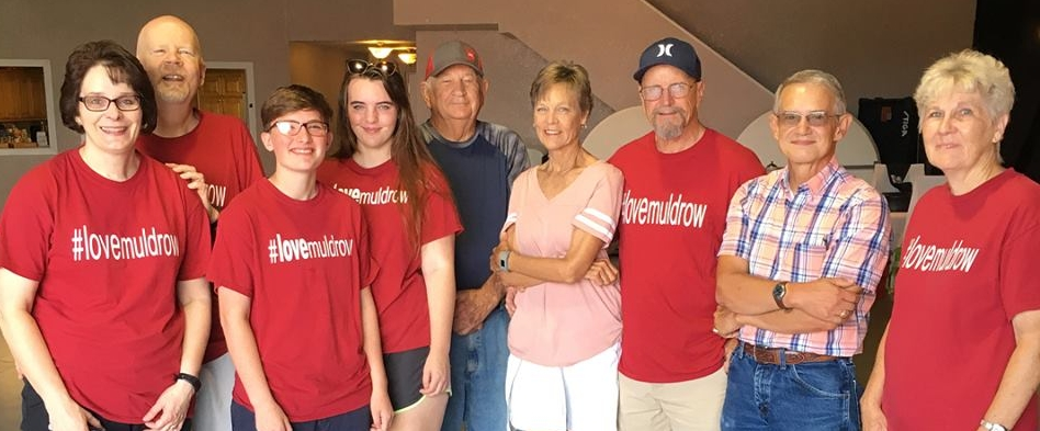 "Rick and Karen Deason, far left, gather with a few of our friends from Muldrow, Oklahoma, who are dedicating themselves to being ""a friend who loves Jesus"" in their home town."