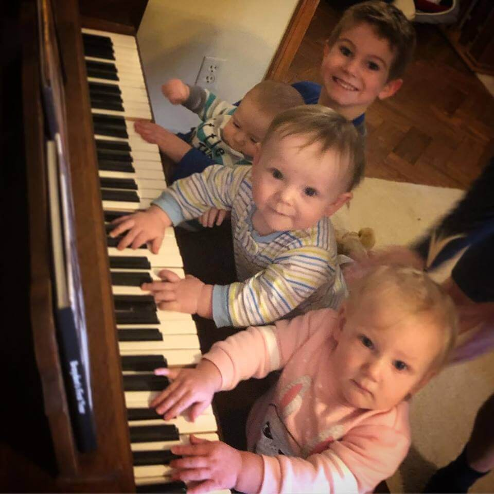 At Christmas the kids all wanted to play a Christmas carol!