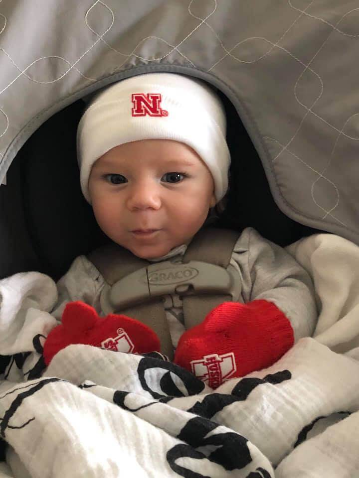 This is Landon, a month or so after coming off the assembly line in September. In spite of our best influences, his parents plan to brainwash him into becoming a Nebraska Cornhusker!