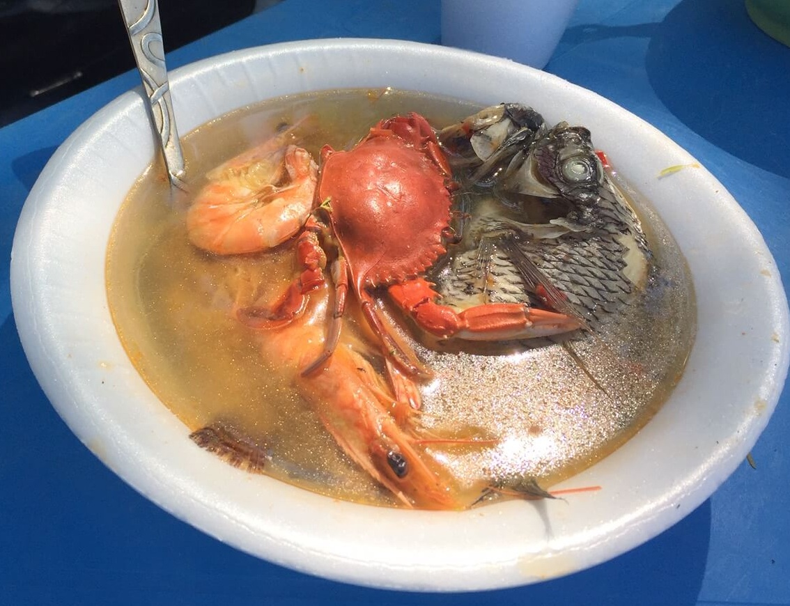 The meeting at the lake is only a few miles from the Pacific Ocean. This seafood soup had a little of everything in it!