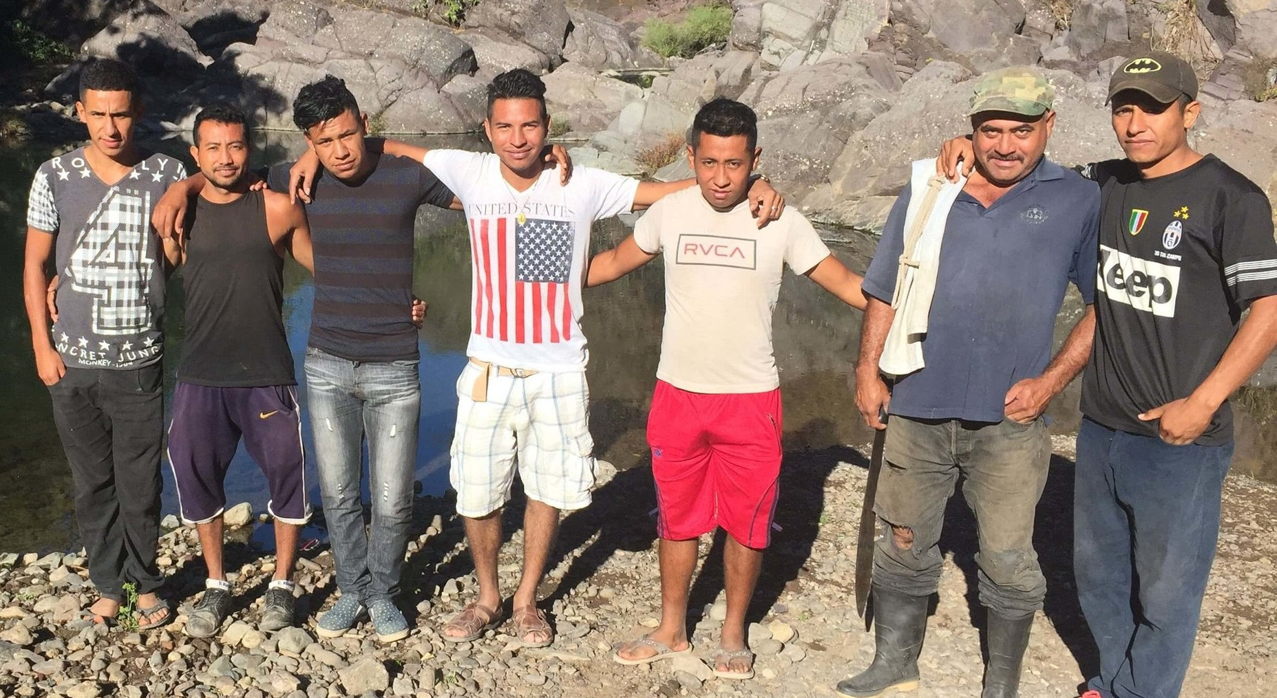 These men took me down to their community water hole before one of our newest groups gathered for the first time near Quesada, Guatemala. After talking about their ideas for pumping water up to the community, I snapped this picture and asked the young man with the US flag on his shirt a question.