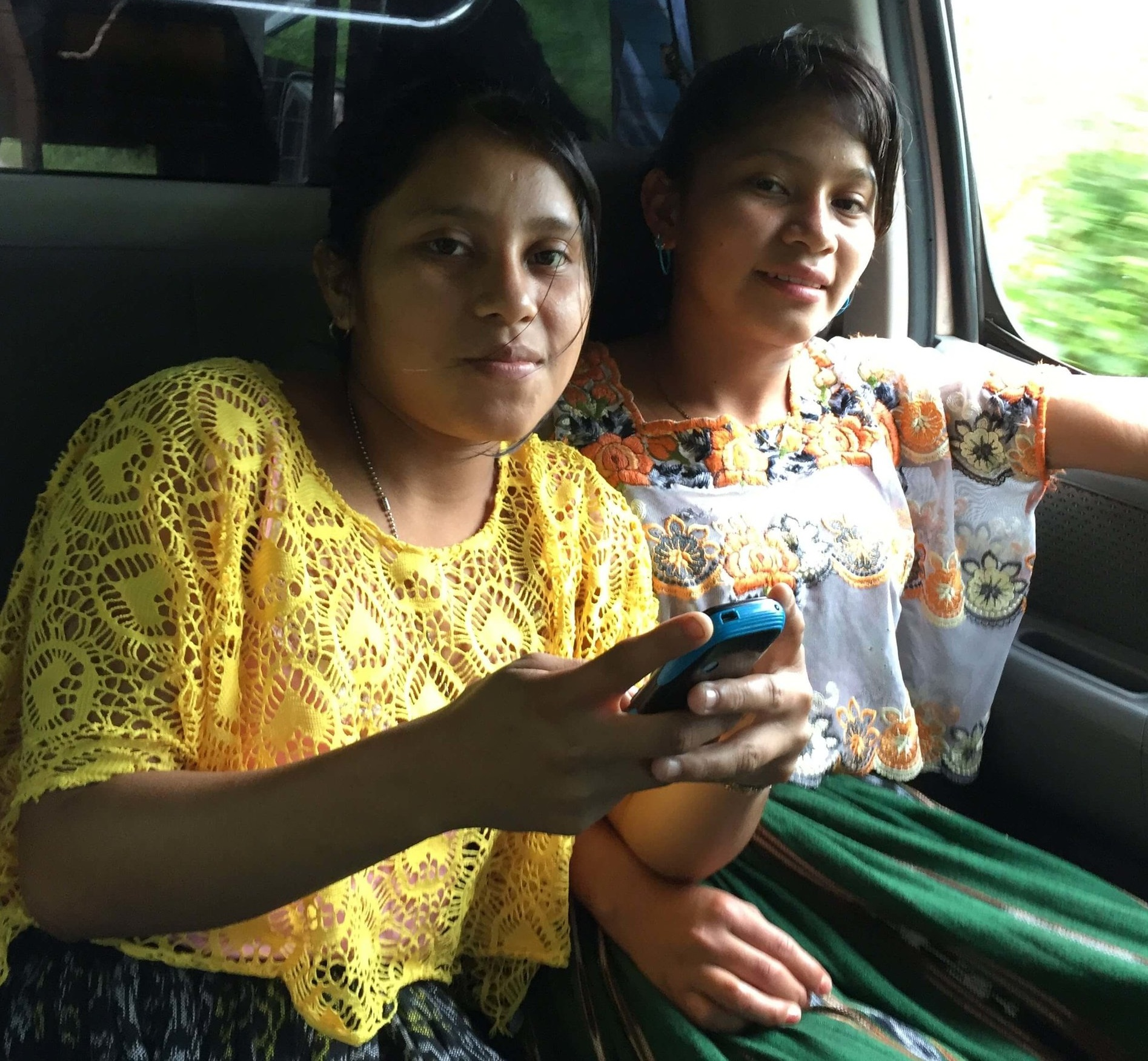 I took this picture last year of these Kekchi teens using their family cell phone to entertain themselves. These girls were taking pictures of what we were doing and showing their friends!