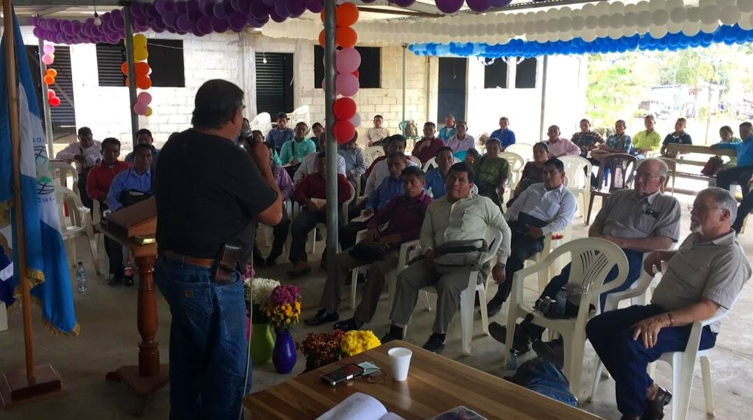 Cesar speaks to a group of Kekchi pastors in Fray de las Casas, Guatemala. Leaders from this group are committing to help our Kekchi pastors in locations we have worked for many years to learn how to use Kekchi language Bible tools. In May we plan to come back for PSE training with this group. Because of a new road, this more mature group is much more accessible to our younger group of churches.