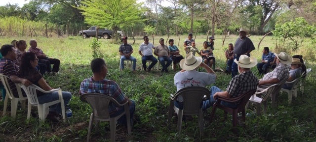 The first meeting of a Christian Rancher group in Ahuachapan, El Salvador.