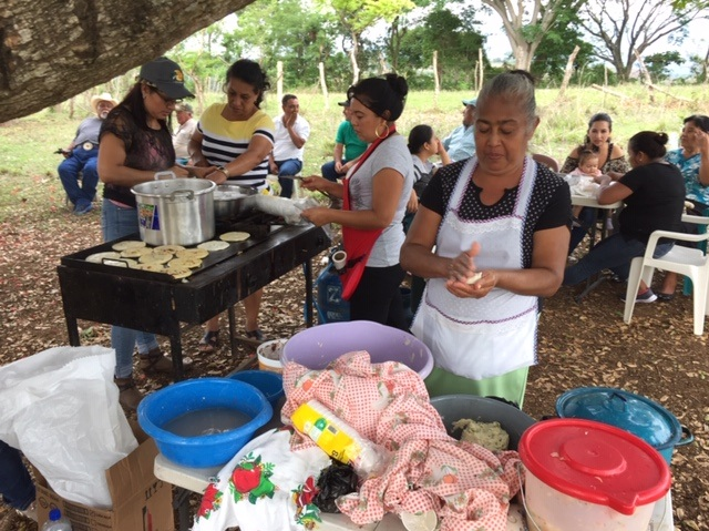 These ladies are making Pupusas for the group. If you ever go to El Salvador, you must try them! They are delicioso!