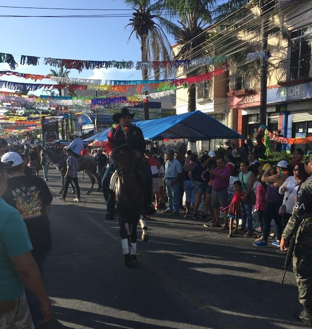On the Saturday of the week of the fair, about a mile stretch of downtown La Ceiba, Honduras, was lined with thousands of people gathering to celebrate the annual fair and rodeo.