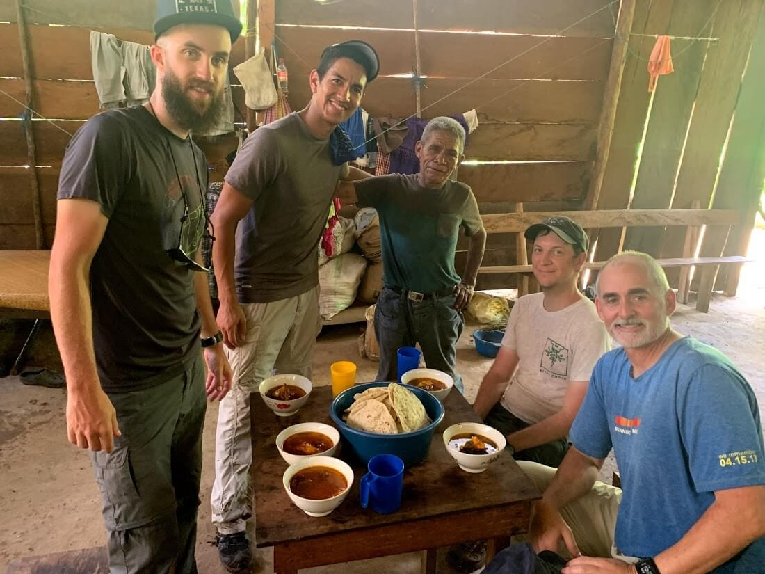 In Ochul Choch, Pedro and his family share a meal of the spicy chili soup with us.