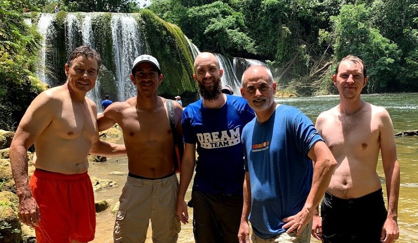 Before leaving the jungle, we took a moment to wash away the mud and the sweat from the morning hike and enjoy the waterfalls of Las Conchas.