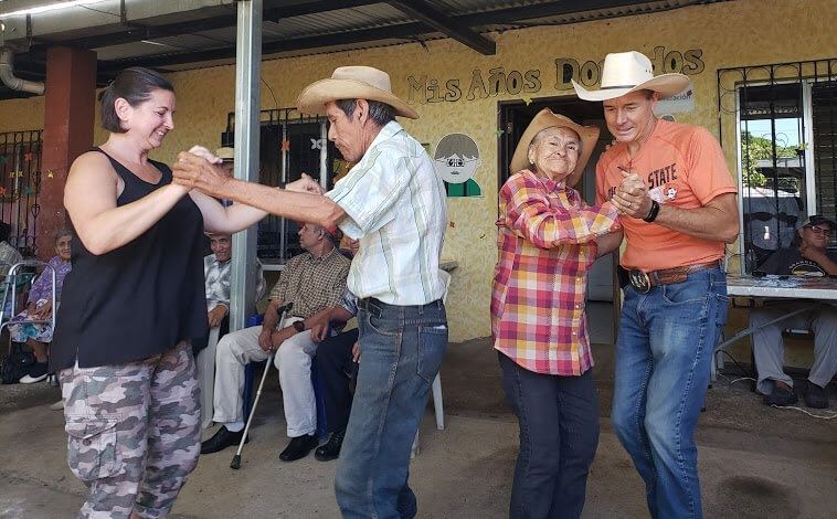 Dancing with the seniors in Santa Cruz Naranjo