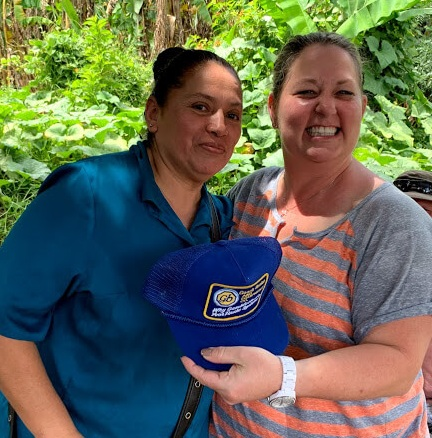 "Dawn gave a prize to Elizabeth Chavaria, the pastor's wife in Chiapas, after playing Connect Four together. After the trip, Dawn wrote her friends on Facebook to say, ""This trip was life changing!"""