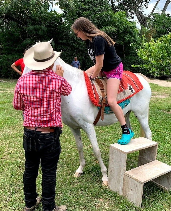 As a former barrel racer and self-avowed horse lover, Alex couldn't wait to ride Bambino.